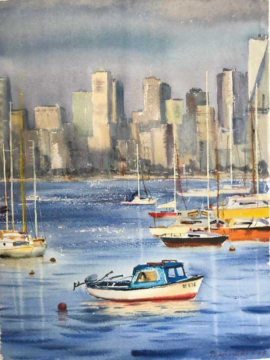 Boat in Melbourne - Eugenia Gorbacheva