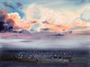 City Cloudscape at Sunrise