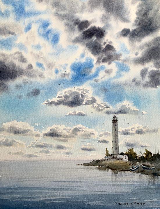 Lighthouse and Clouds #2 - Eugenia Gorbacheva