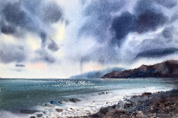 Waves and clouds - Eugenia Gorbacheva