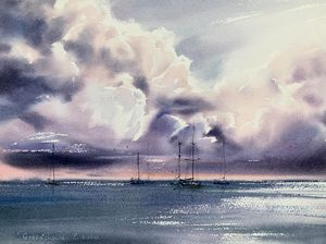 Yachts at anchor #4