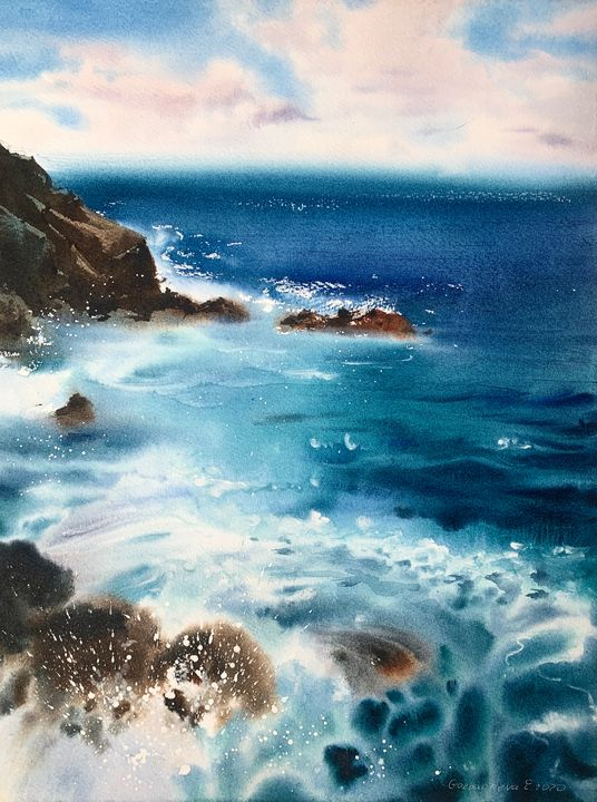 Cliffs and sea #2 - Eugenia Gorbacheva