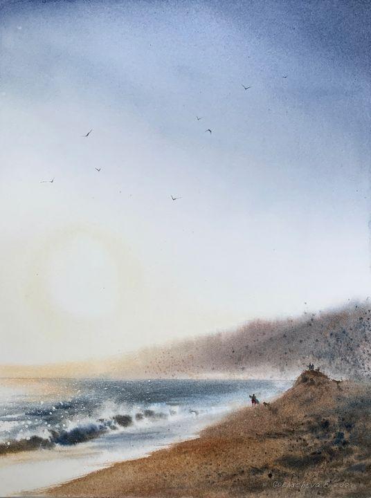 Walking by the sea - Eugenia Gorbacheva