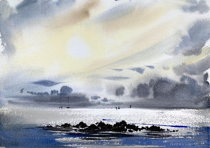 Cliffs and sea #3 - Eugenia Gorbacheva