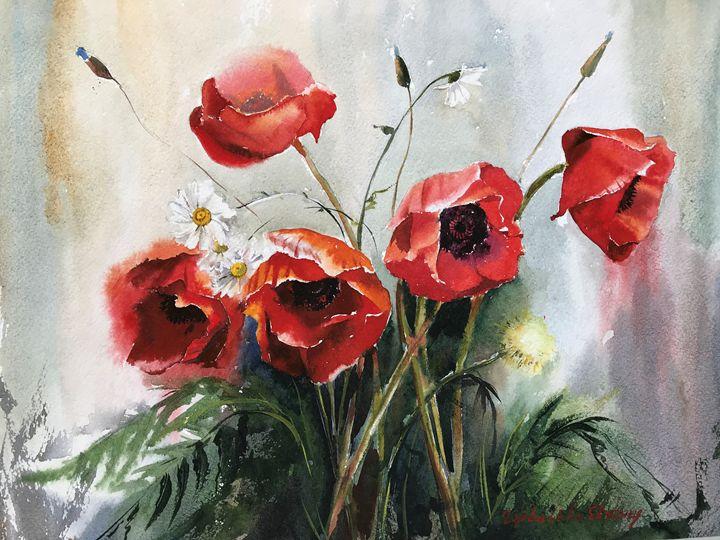 Poppies - Eugenia Gorbacheva