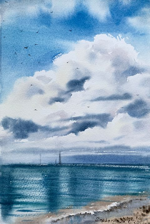 Sailboats and clouds - Eugenia Gorbacheva
