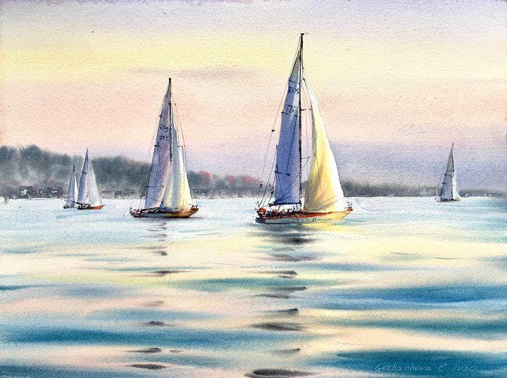 Sailing yachts - Eugenia Gorbacheva