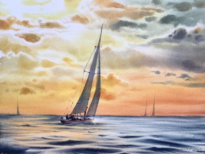 Orange sunset - Eugenia Gorbacheva