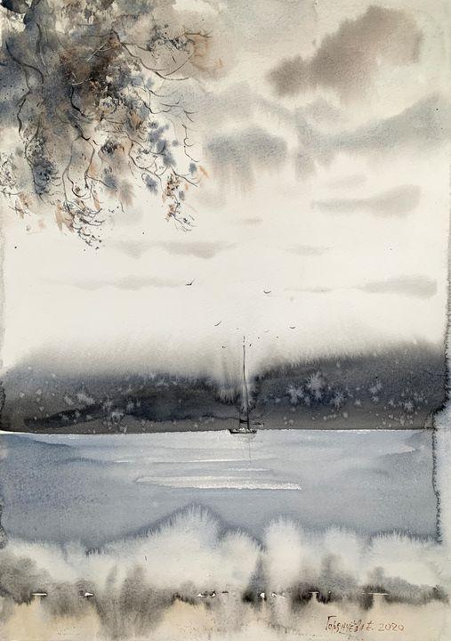 Northern seascape #5 - Eugenia Gorbacheva