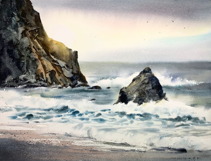 Waves and rocks - Eugenia Gorbacheva