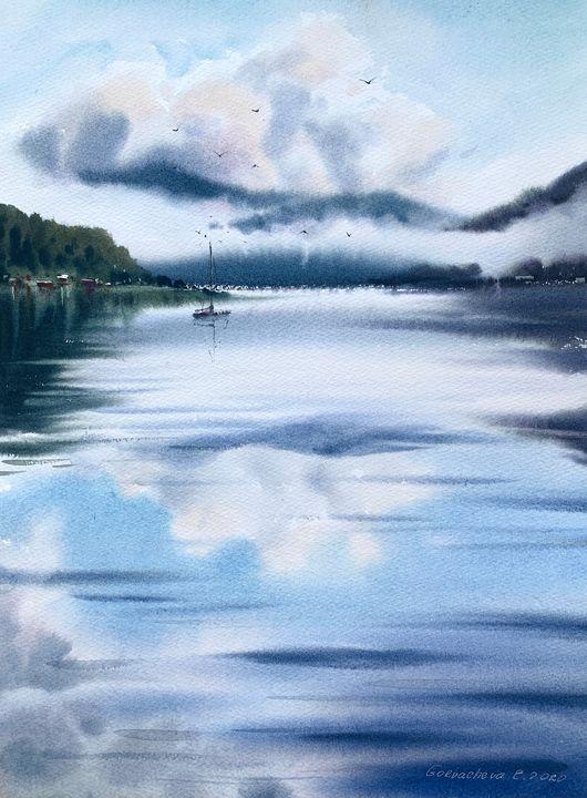 Sailboat and clouds #6 - Eugenia Gorbacheva