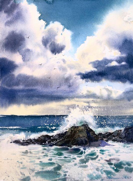 Waves and rocks #2 - Eugenia Gorbacheva