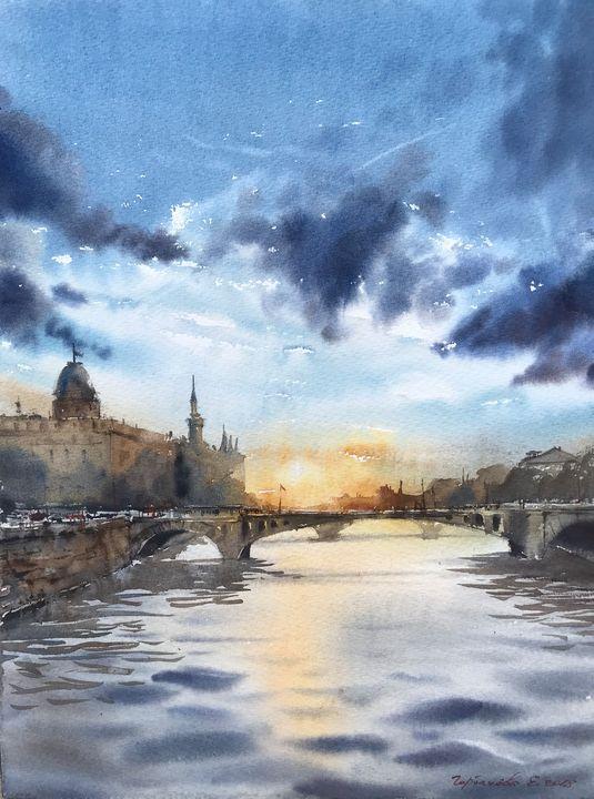 View of the River Seine - Eugenia Gorbacheva
