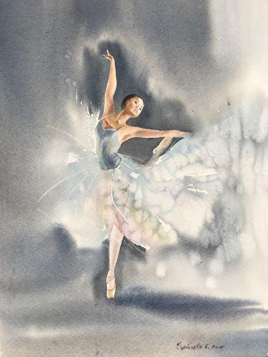Ballerina in gray - Eugenia Gorbacheva