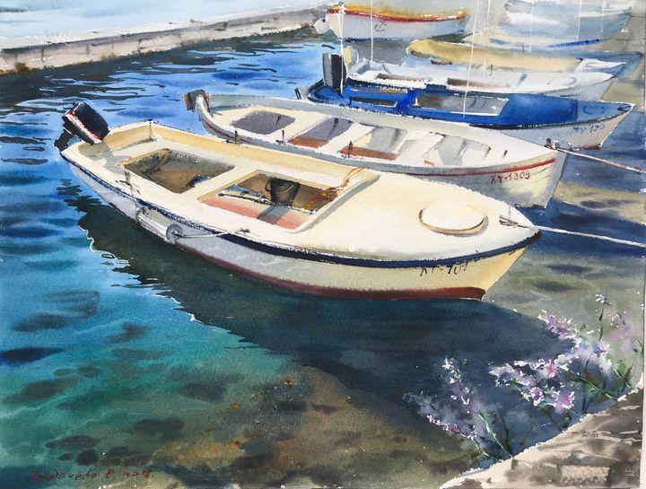 Motorboats, Montenegro - Eugenia Gorbacheva