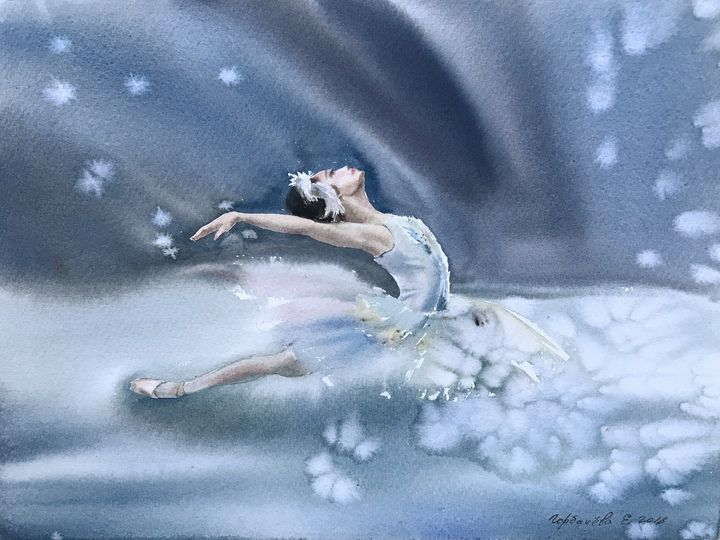 Ballerina on stage - Eugenia Gorbacheva
