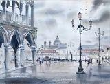 Rain in St. Mark's Square, Venice