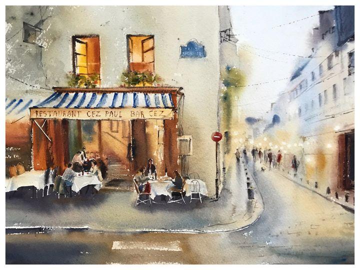 Restaurant in Paris - Eugenia Gorbacheva