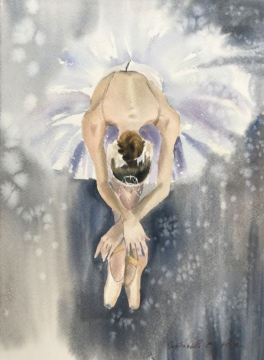 Ballerina in white - Eugenia Gorbacheva