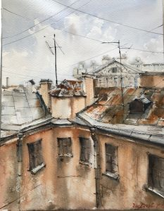 Roofs of St. Petersburg No 1