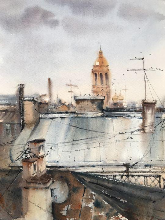 Roofs of St. Petersburg No 2 - Eugenia Gorbacheva
