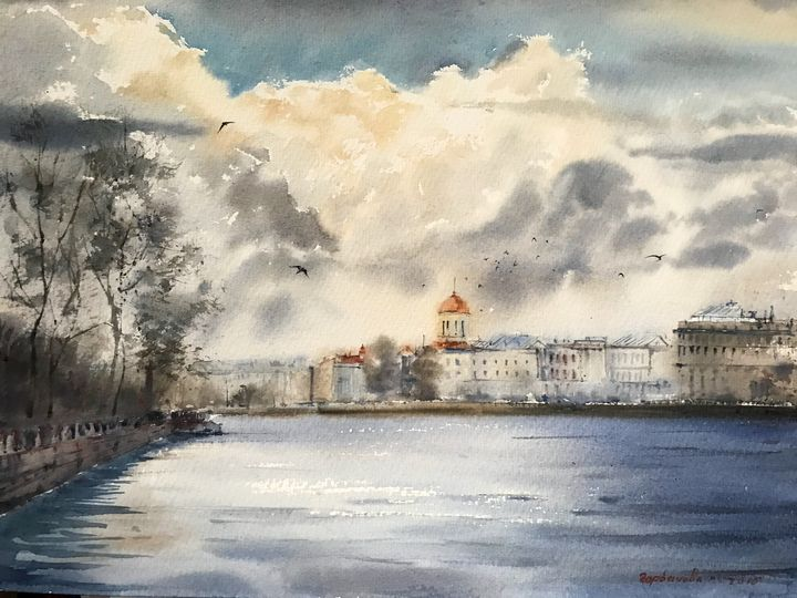 The Neva river, St. Petersburg, No 2 - Eugenia Gorbacheva