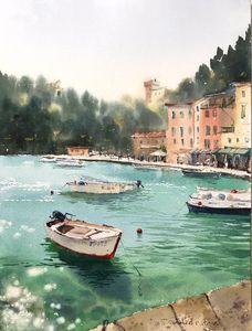 Boats, Portofino, Italy