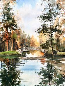 Autumn park in the Gatchino