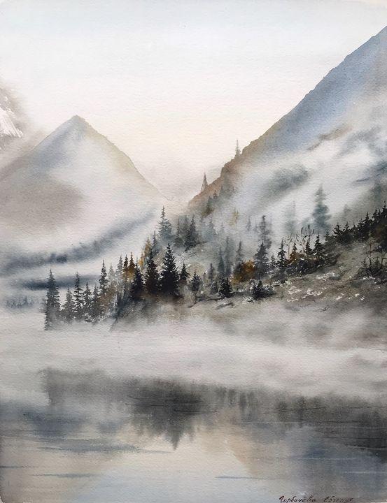 Foggy morning in the mountains - Eugenia Gorbacheva