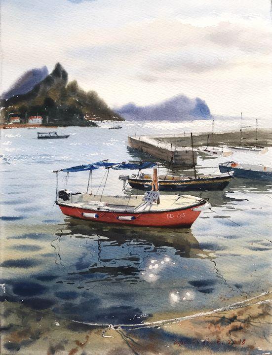 Boat, Kotor, Montenegro - Eugenia Gorbacheva