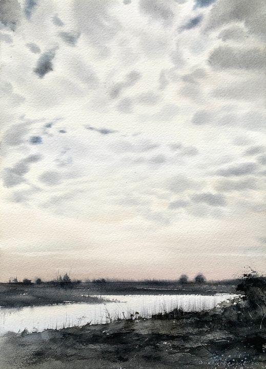 Clouds over the river #2 - Eugenia Gorbacheva
