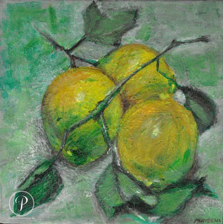 Lemons Still Life - Praveena Prabhakaran