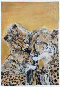 Acrylic Cheetah Family