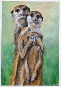 Acrylic Meerkat Family