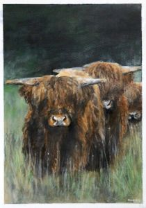 Acrylic Bison Family