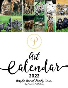 Art Calendar 2022 ' Animal Family'