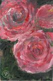Pink Roses Abstract Acrylic