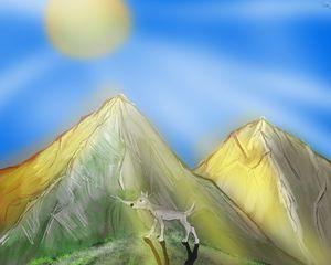 Golden Nordic Mountain