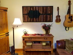 "Barnwood soundwave for ""peace"""