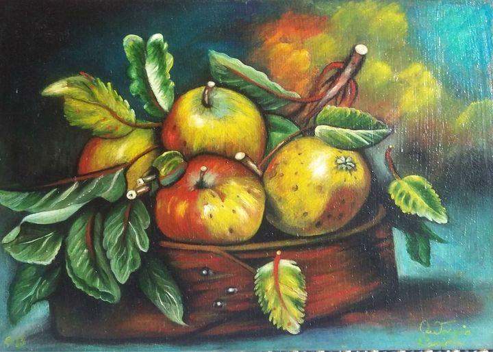 sistemazione di mele - dipinti e'sculture d'autore