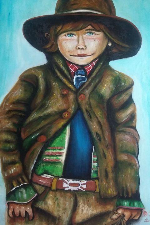 il bambino felice - dipinti e'sculture d'autore
