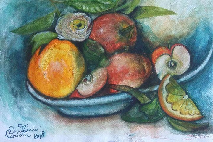 frutta - dipinti e'sculture d'autore