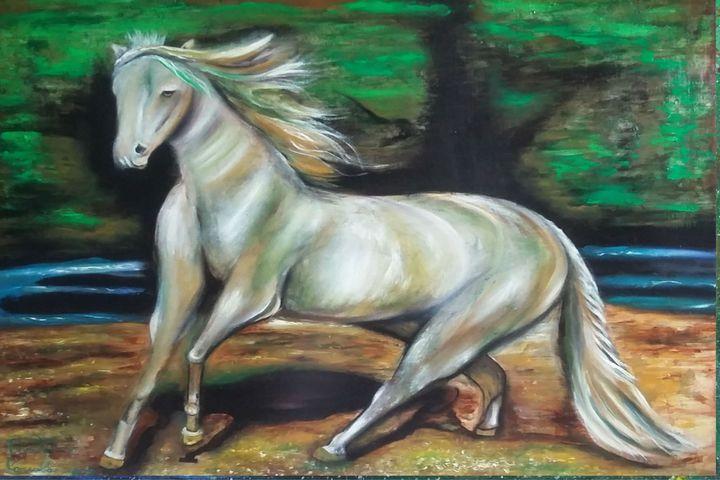 lo potenza di un cavallo - dipinti e'sculture d'autore