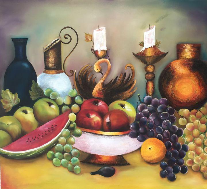 Frutos sobre la mesa - Arteaga