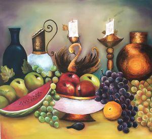 Frutos sobre la mesa