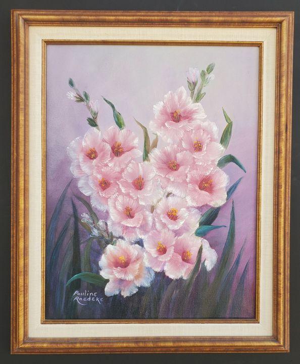 Pink Gladiolas - Pauline Raedeke