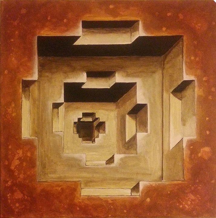"""""""Pit Steps"""" -3D Illusion - Abstract - Palette Sense"""