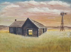 """The Lone Barn"" Original Acrylic Art"