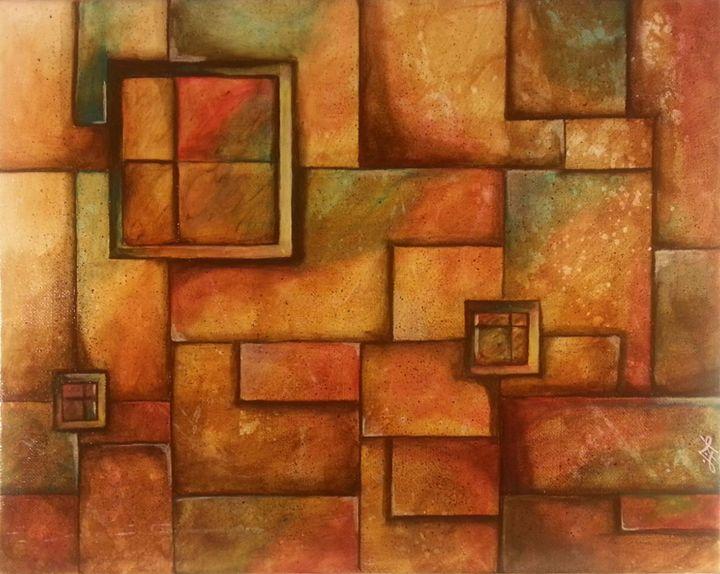 """Tilus"" - Geometric Original Acrylic - Palette Sense"
