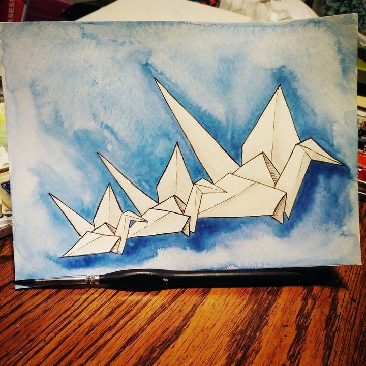 Origami Swan - Art By Sam